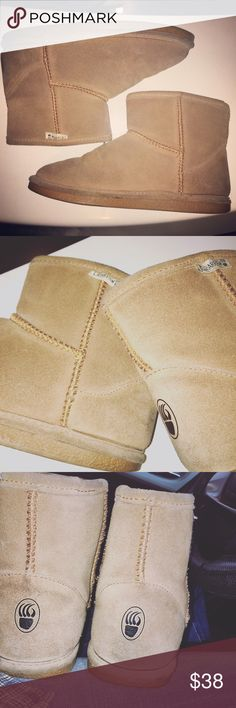 BearPaw Demi Boots In Tan Such great condition BearPaw Shoes Winter & Rain Boots