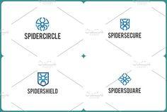 Spider Logo Bundles by wopras on @creativemarket