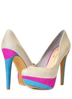 Cute color block heels