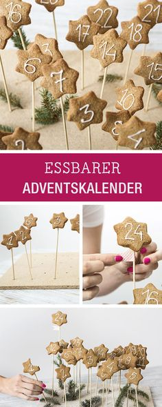 Essbaren Adventskalender aus Lebkuchen selbermachen / eatable advents calendar made of gingerbread via DaWanda.com