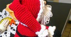 PATRÓN SANTA NAVIDEÑO 2 Christmas Crochet Patterns, Peppa Pig, Christmas Holidays, Beige, Crafts, Diy, Pattern Sewing, Crochet Dolls, Groomsmen