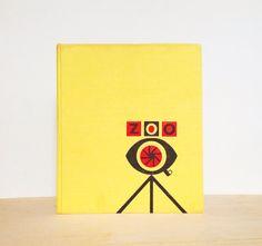 Yellow MidCentury Modern Vintage German Book  by cobbleandjot, $20.00