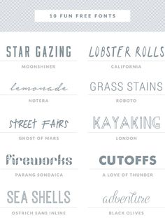 Fun FREE Fonts Roundup