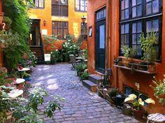 Innergård i Köpenhamn.