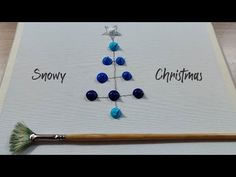 Snowy Christmas Landscape Painting / Easy canvas painting for beginners / STEP by STEP - YouTube Basic Painting, Easy Canvas Painting, Acrylic Canvas, Christmas Landscape, Landscape Paintings, Hair Accessories, Youtube, Landscape Drawings, Hair Accessory