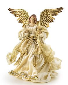 Add a timeless treasure to your elegant Christmas tree with this beautiful Gold Angel Tree Topper from Balsam Hill. Realistic Christmas Trees, Elegant Christmas Trees, Ghost Of Christmas Past, Angel Christmas Tree Topper, Christmas Nativity, Christmas Angels, Xmas Tree Toppers, Diy Tree Topper, Balsam Hill