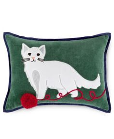 Martha Stewart Collection Winter and Animals Decorative Pillow Collection, Only at Macy's | macys.com