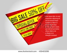 Sale banner template. Super offer, limited time only. Big Sale 50% off. Special Discount. Vector illustration.