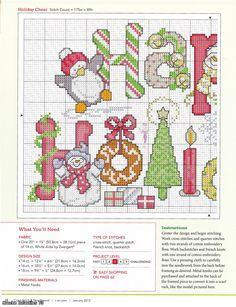 Cross-stitch Happy Holidays, part 1.. color chart on part 2... Радикал-Фото :: Увеличенное изображение