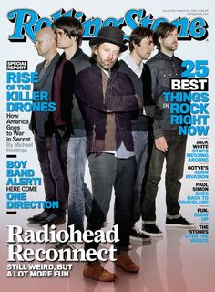 Radiohead on the cover of RollingStone