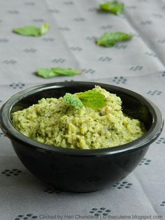 Mullangi Pudina Pachadi ~ Mint and Radish Chutney Recipe Preparation & Cooking Time : 20 mins Serves: 4 persons Ingredients : Grated Radish / Mooli : 1 cup Fresh Mint Leaves : 1 cup, packed Green chillies : 3- 5 Tamarind : 1 inch piece Salt to taste Oil : 2 tsp For Tempering :...