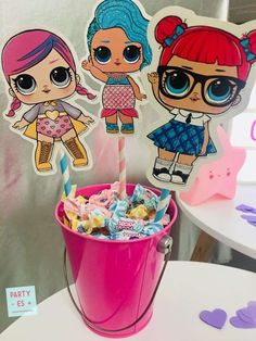 The centerpiece at this LOL Surprise Dolls birthday party is so. The Effective Pictures We Offer You About Lol Surprise Dolls Party Ideas A quality p 7th Birthday Party Ideas, Birthday Party Centerpieces, 25th Birthday, Surprise Birthday, Fete Emma, Doll Party, Bday Girl, Lol Dolls, Birthday Design