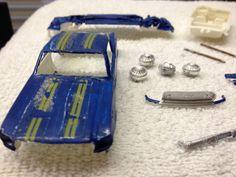 VTG Original AMT Mustang Fastback MINI Plastic Model 1/43rd Restore #AMT