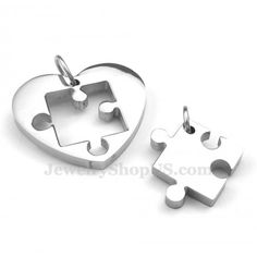 Titanium Couples Sign And Symbol Pendant Necklace (Free Chain)(One Pair)