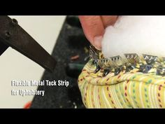 Watch this video to see how to use the Flexible Metal Tack Strips, used to attach fabric panels to upholstered furniture. This flexible tack strip is used pr. Reupholster Furniture, Upholstered Furniture, Chair Makeover, Furniture Makeover, Diy Furniture, Chair Repair, Parsons Dining Chairs, Shabby Chic Sofa, Makeover Before And After