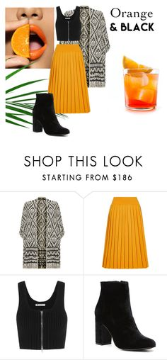 """""""Orange and Black"""" by ricardo-vitorino ❤ liked on Polyvore featuring Joie, Vivienne Westwood, T By Alexander Wang and Witchery"""