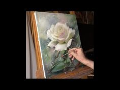 Белая роза. Speed painting. Alla Prima. Process of creating oil painting. Rose (study). - YouTube