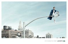 Lacoste: Life is a beautiful sport, Man lamp