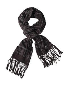 IM4H&M grey striped cotton scarf