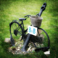 B&B Bicycle with Anchor, Vintage Bicycle, Anchor, Cape Breton, Nova Scotia, Summer by AlunWyldPhotography on Etsy