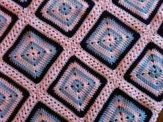 No-Holes Granny Square Free Pattern -