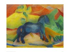 Small Blue Horse 1912 By Franz Marc