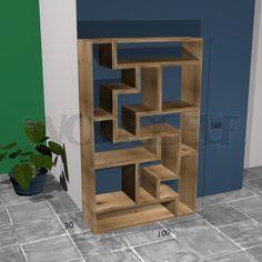 Etagère Tetris - plan du meuble