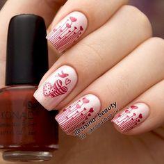 #Valentines Hearts #nails #nailart @sisina_beauty