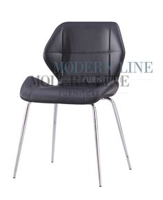 Modern Line black bonded leather dining chair, $59.99 each