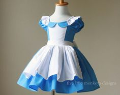 Alice in Wonderland Dress - Alice Dress - Alice in Wonderland - Queen of Hearts - White Rabbit - Alice in Wonderland Costume White Rabbit Alice In Wonderland, Alice In Wonderland Costume, Alice Cosplay, Alice Costume, Costume Dress, Flower Girl Tutu, Flower Girl Dresses, Princess Dresses, Gato Alice