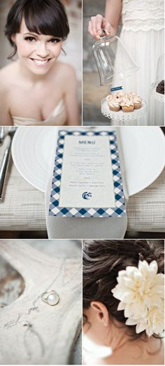 Rustic Photo Shoot by Gucio Photography + Revel Events Event Styling, Wedding Details, Gingham, Photo Shoot, Style Me, Menu, Events, Rustic, Makeup