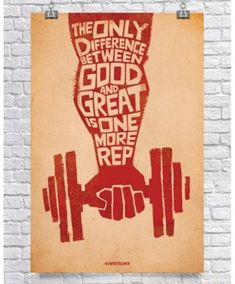 Gym Poster - Weightlifting Poster - Fitness Motivation Poster - Bodybuilding Poster - Difference Between Good & Great Bodybuilding Posters, Fitness Bodybuilding, Bodybuilding Motivation, Fitness Motivation, Fitness Quotes, Fitness Tips, Gym Fitness, Blink Fitness, Lifting Motivation