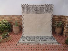 Your place to buy and sell all things handmade Beni Ourain, Black Pattern, Tribal Rug, Rugs On Carpet, Moroccan, Wool Rug, Craft Supplies, Hand Weaving, Throw Pillows