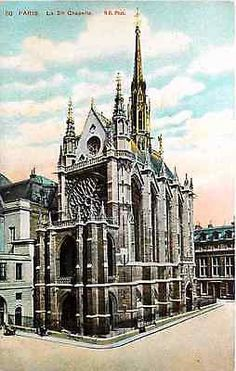 Paris France 1915 Holy Chapel Sainte Chapelle Collectible Vintage Postcard Paris France Circa 1915 Sainte Chapelle (Holy Chapel) which originated with Louis IX in 1241 and was completed in 1247. Louis