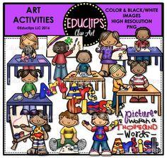 Art Activities Clip Art Bundle