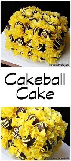 A gorgeouus CAKEBALL CAKE that's sure to impress your guests! Very easy to make and sooooo many color possibilities. From cakewhiz.com