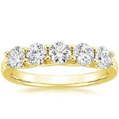 18K Yellow Gold Signature Five Stone Trellis Diamond Ring (1 ct. tw.) from Brilliant Earth