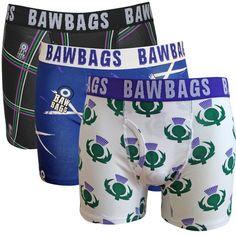 cd35190d02 Bawbags 3 Pack Scottish Underwear Cotton Underwear