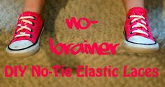 Beth Being Crafty: DIY No-Brainer No-Tie Elastic Laces