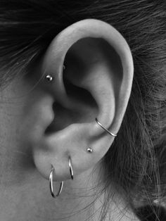 Conch Piercing Forward Helix Piercing