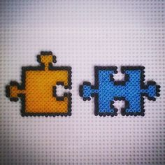 Puzzle pieces hama beads by hadavedre