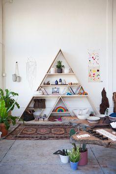 triangle bookcase
