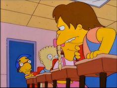 The Simpsons/// milhouse ends up in ambulance next scene lol :) Simpsons Videos, Simpsons Funny, Simpsons Quotes, The Simpsons, Futurama Quotes, Homer Simpson, Lisa Simpson, Los Simsons, Walt Disney