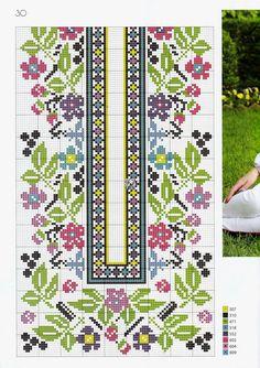 "Photo from album ""Українська вишивка on Yandex. Russian Cross Stitch, Cross Stitch Art, Cross Stitch Flowers, Cross Stitch Designs, Cross Stitching, Cross Stitch Embroidery, Embroidery Patterns, Cross Stitch Patterns, Palestinian Embroidery"