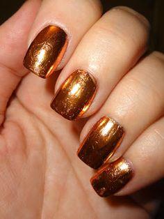 Wendy's Delights: Bronze Metallic Nail Foil from Charlies Nail Art @charliesnart 10% discount code use WDB10 at checkout! #charliesnailart #nailfoil #foil #nailart #goldnails #bronzenails #metallicnails