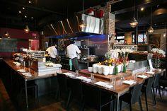 Origin, Toronto - love the open kitchen in this restaurant