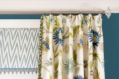 Window Treatment designs by Decorating Den Interiors. Call Decorating Den Interiors by Julie Ann to set up your FREE consultation Window Treatments, Decor, Drapery Panels, Pinch Pleat Draperies, Drapery, Interior, Paneling, Pleated Drapery, Printed Shower Curtain