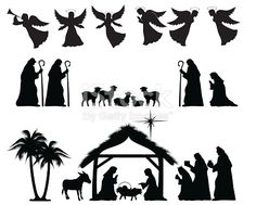 Christmas Nativity Silhouette. ZIP contains AI format, PDF and jpeg.