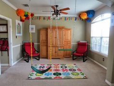 Classroom Preschool Playroom Indoor Swings www.stylewithcents.blogspot.com