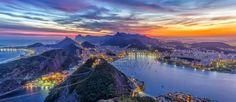 Rio de Janeiro, vista do alto do Pão de Açúcar (Foto: Arquivo Google)
